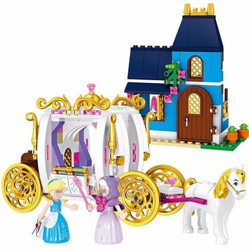 Lepin Friends 25009 Cinderella Pumpkin Carriage Princess Building Blocks Toy For Children Figure Compatible Legoing Friend 41146