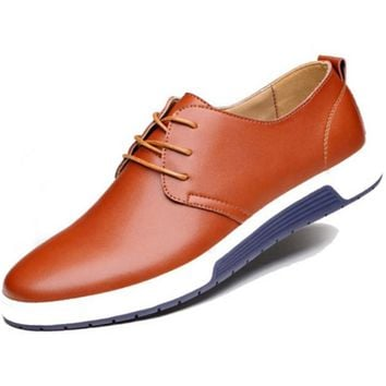 Clearance Mens Street Style Casual Leather Shoes