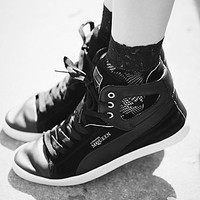 Alexander McQueen for Puma Womens Alexander Mcqueen Terena High Top - Black,