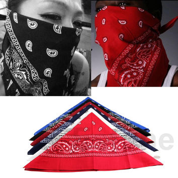 HOT 1pcs Paisley Bandana HeadWrap Hair wrap Double Side Print 1 pc Cotton Scarf Headband free shipping
