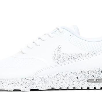 Nike Air Max Thea Running Shoes By Glitter Kicks - Triple White  4492916056