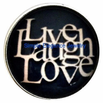 Brown Live Laugh Love Snap Charm 20mm for Snap Jewelry (2026)