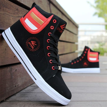 Mens Round Toe High Top Sneakers Casual Lace UpShoes Newest Style