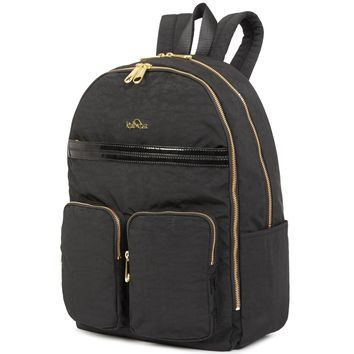 Tina Laptop Backpack - Black Patent Combo
