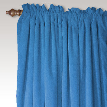 Carnival Velvet Curtain Panel Pair in Turquoise