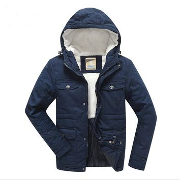 2016 New Boys Winter Coat Padded Jackets Outerwear Thick Warm Lamb Velvet Liner Cotton Jacket For 7-16 T Children Outer Clothing