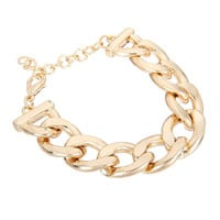 Golden Curb Chain Bracelet
