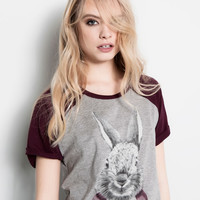 PRINT TOP - T-SHIRTS AND TOPS - WOMAN - PULL&BEAR United Kingdom