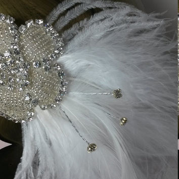 Stunning rhinestone, Charleston, Flapper, 1920s, Great Gatsby fancy dress, ladies bridal, wedding, headband, headdress, headpiece