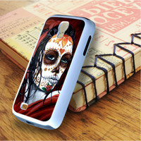 Floral Sugar Skull Day Of The Dead Samsung Galaxy S4 Case