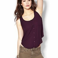 Light Crepe Tank With Chest Pockets