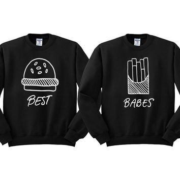 Best Babes Burger and Fries Duo Sweatshirt