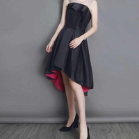 High Low Cocktail Black Dress