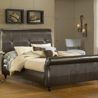 Hillsdale Fremont Bed Set King Brown Leather - 1602BKR