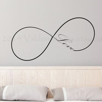 Infinity love wall decal, wall sticker, decal, wall graphic , living room decal, bedroom decal, vinyl decal, vinyl graphic decal