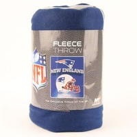 "New England Patriots Fleece Blanket 50"" x 60"""