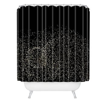 Catherine McDonald Sky Glitter Shower Curtain