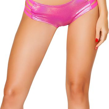 J-Valentine Hot Pink No Seam Strappy shorts