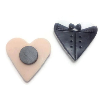 Wedding Magnet Favors, Bride Favors, Groom Favor, Keepsake Gift, Party Favors, Clay Favors, Magnet Favors, Pack of 24 or 48