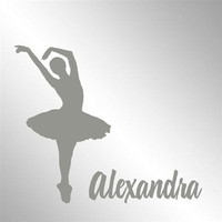 """Ballerina Dancer Dance Name Personalized Etched Mirror Signs Man Cave Decor 12"""" L x 12"""" T"""