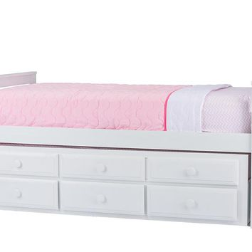 Baxton Studio Ballina White Wood Contemporary Twin-Size Trundle Bed Set of 1