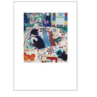 """Artists Blank Note Cards, """"Sock Puppet"""", Cat on Couch with Quilts, Bowl of Oranges, Puppet, Chinese Pin Cushion"""