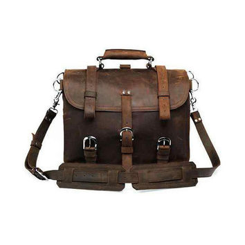 Brown Leather Travel Bag/Backpack