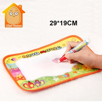 Minitudou 29x19cm Baby Kids Add Water With Magic Pen Doodle Painting Picture Water Drawing Play Mat in Drawing Educational Toys
