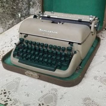 Fifties Remington Quiet Riter Portable Typewriter