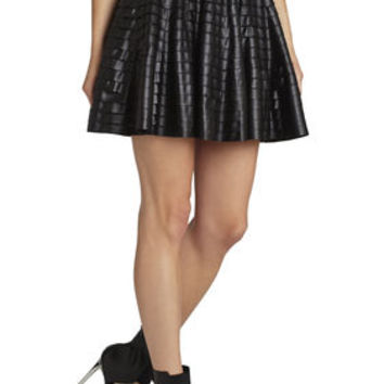 BCBG Shanina Pleather-Strapped Skirt