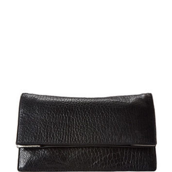 McQ by Alexander Mcqueen Simple Fold Embossed Leather Clutch