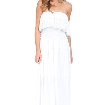 White Strapless Maxi Dress at Blush Boutique Miami - ShopBlush.com : Blush Boutique Miami – ShopBlush.com