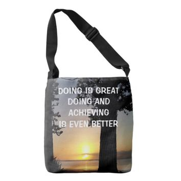 Achieving Photo Quote by Kat Worth Crossbody Bag