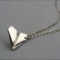 1D.  PAPER AIRPLANE NECKLACE  ONE DIRECTION!! FAST SHIPPING FROM USA!!!