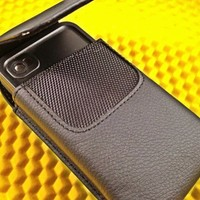 Rebono Premium Faux Leather Carrying Case / Belt Holster Clip for Lifeproof Water Proof Iphone 4/4s Case - Black