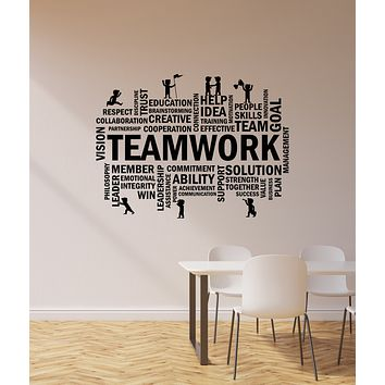 Vinyl Wall Decal Teamwork Office Space Room Team Business Success Stickers Mural (ig6176)