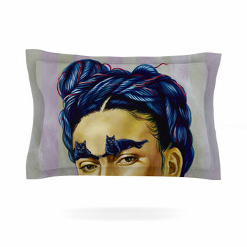 "Jared Yamahata ""Frida Katlo"" Blue People Pillow Sham"