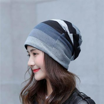 Sports Hat Cap trendy  Casual Spring Summer Beanie Men Women Thin Hat Helmet Liner Cotton Face Mask Sports Cycling Hat Breathable Skullies KO_16_1