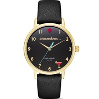 kate spade new york 5 O'Clock Somewhere Leather Strap Watch, 34mm | Bloomingdales's