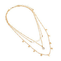 Pearl Short Layered Necklace