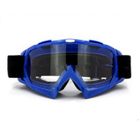 Adult Colourful double Lens Snow Ski Snowboard Goggles Motocross Anti-Fog Fashion Eye Protection Blue Lucency