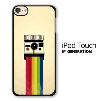 Polaroid Camera Colorful Rainbow iPod Touch 6 Case