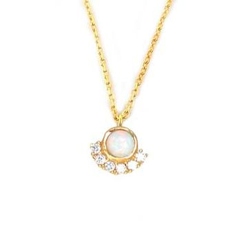 Opal & Diamond Parisian Sunset Pendant