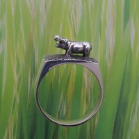 TUBBY the HIPPO RING - Sterling Silver