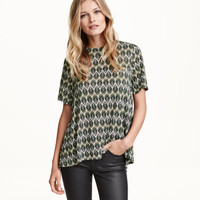 H&M Patterned Jersey Top $12.99