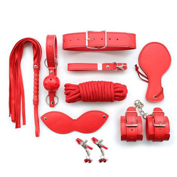 Red Bondage Set