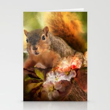 You Foxy Thing Stationery Cards by Theresa Campbell D'August Art