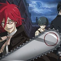 Great Eastern Black Butler Sebastian/Ciel and Grell Fabric Poster