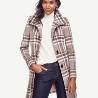Brushed Plaid Coat | Ann Taylor