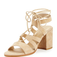 Bigtiegirl Suede Lace-Up Sandal, Beach